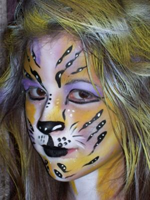 Cat Face Painting Idea