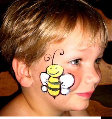 Bumble Bee Face Painting Idea