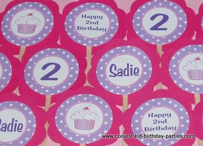 Cupcake Theme 1st Birthday Party