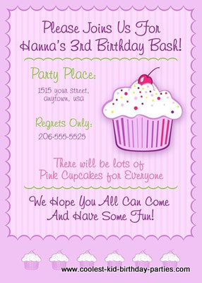 Cupcake Theme 1st Birthday Party