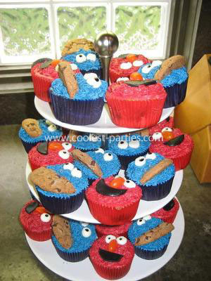 Sesame Street And Elmo Birthday Party Treats