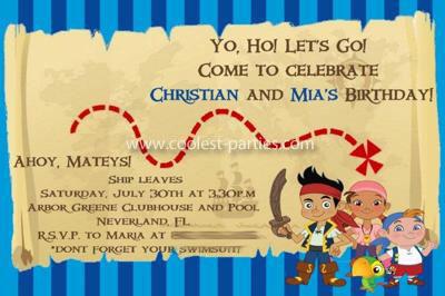 Treasure Map Invitation for a Pirate Birthday