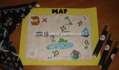 Treasure Map Hunt Activity for a Pirate Birthday