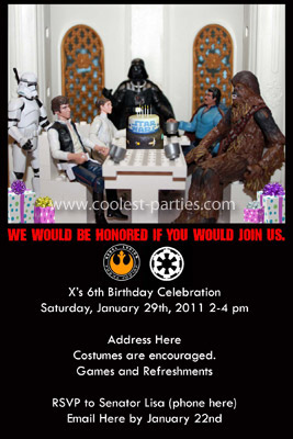 Star Wars Birthday Party - Cardboard Instructions