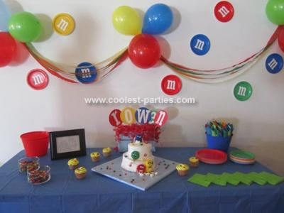 coolest m m candy 2nd birthday party