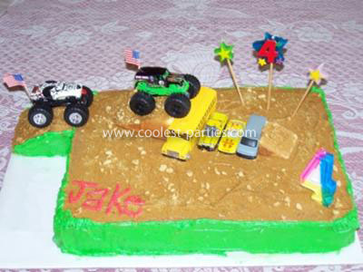 Monster Truck Party Cake