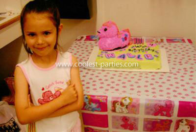 Halle with her My Little Pony cake