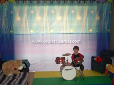 Rock Star Birthday Party back drop