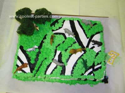 Safari Theme Party Cake