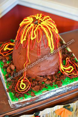 Keiran's volcano cake!