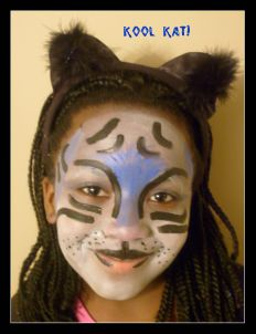Kool Kat Face Painting Idea