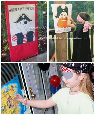 Pin the Parrot on the Pirate Games