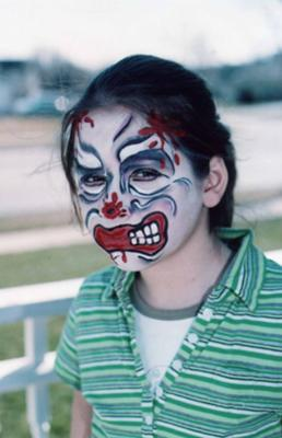 Scary Clown Face Painting Idea