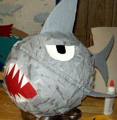 My Homemade Shark Pinata